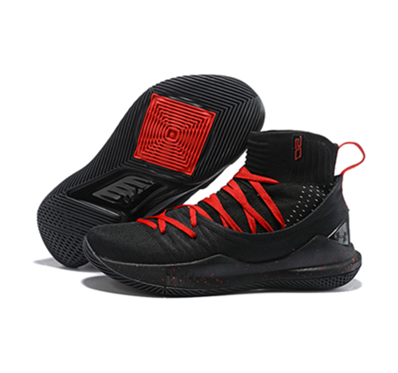 Curry 5 Shoes Red Black